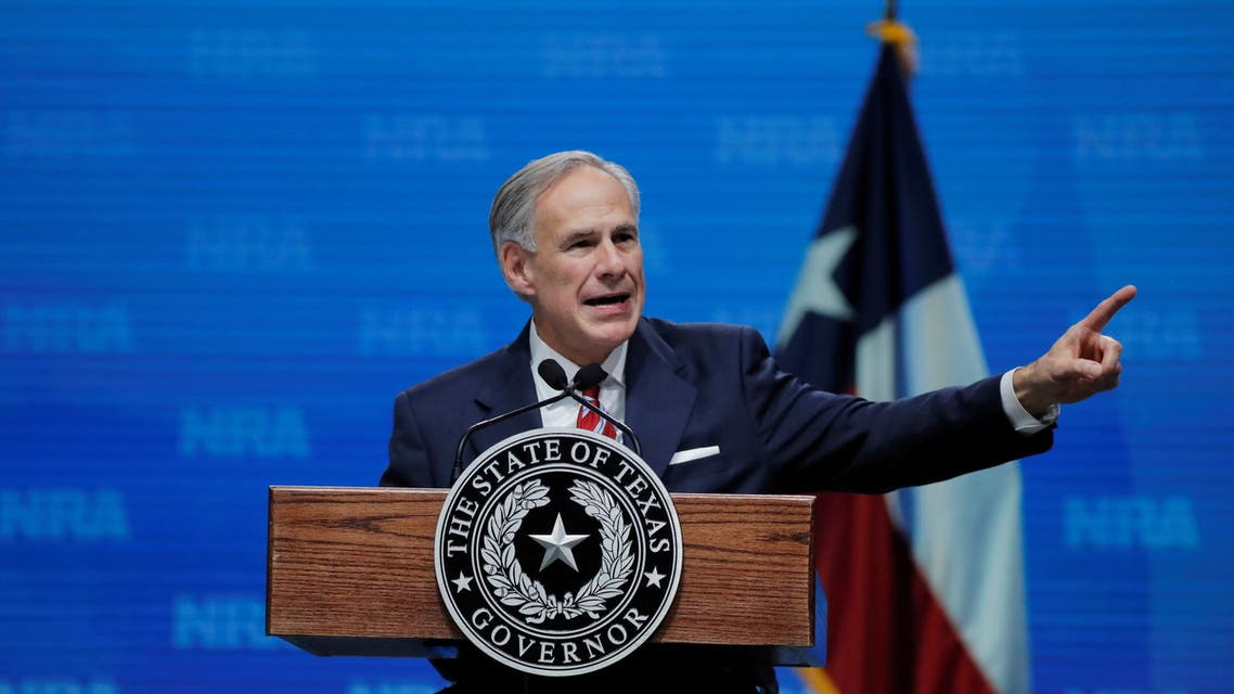 Texas Governor Greg Abbott speaks at the annual National Rifle Association (NRA) convention in Dallas, Texas, U.S., May 4, 2018. (File photo: Reuters)