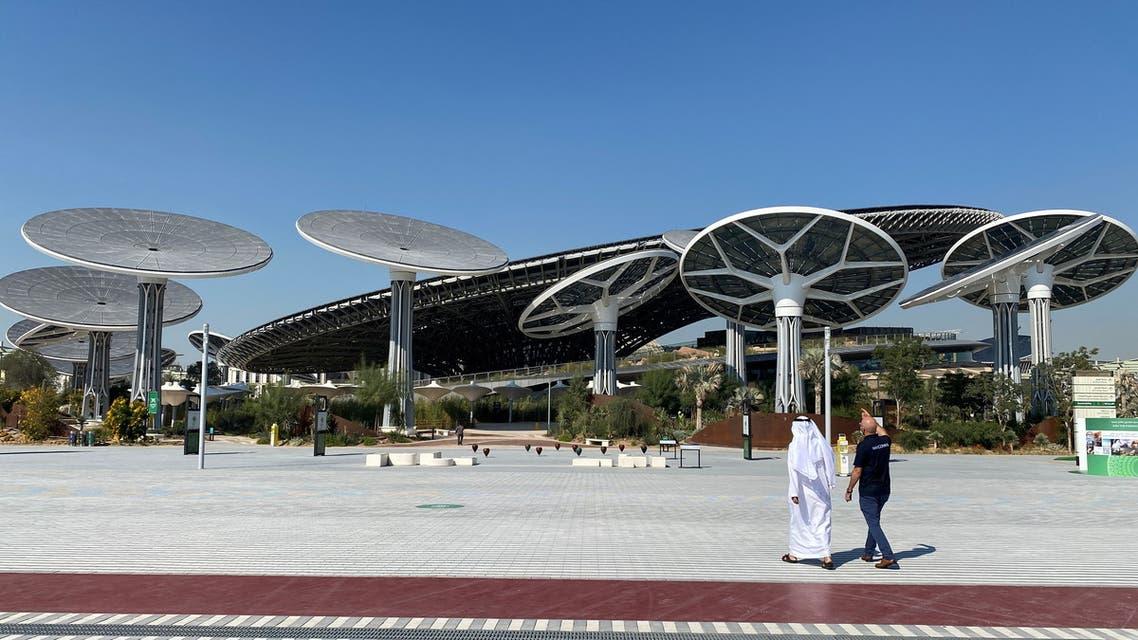 People walk at the site of Dubai Expo 2020 in Dubai, United Arab Emirates January 16, 2021. (File photo: Reuters)