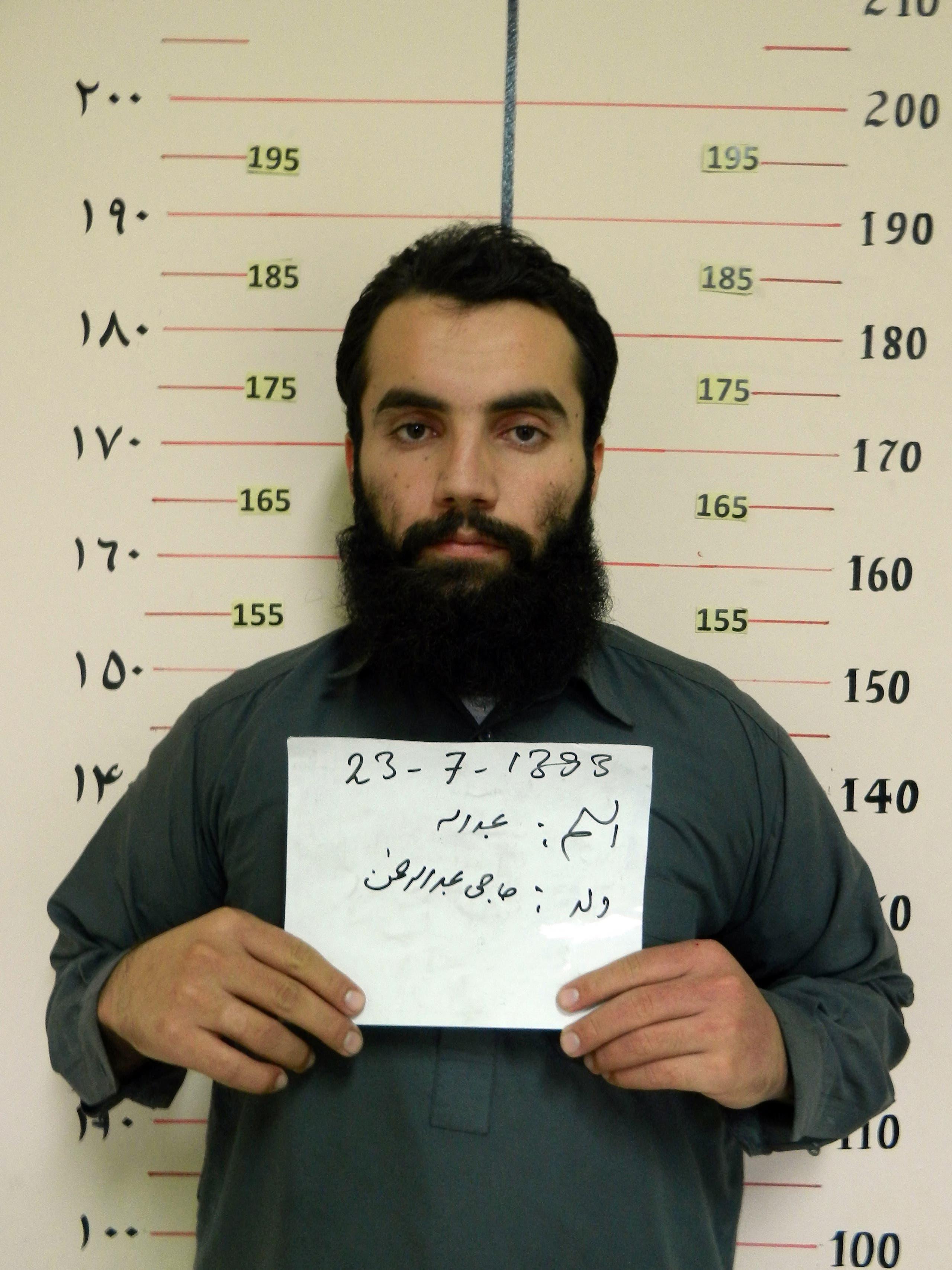 أنس حقاني عند إلقاء القبض عليه في 2014