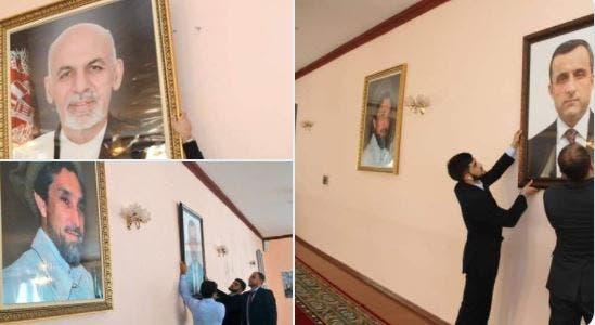 تصویر اشرف غنی از سفارت افغانستان در تاجیکستان برداشته شد و معاون وی جایگزین آن شد