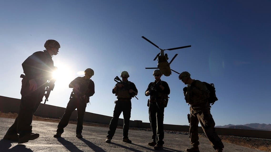 In this Nov. 30, 2017, file photo, American soldiers wait on the tarmac in Logar province, Afghanistan. (AP)