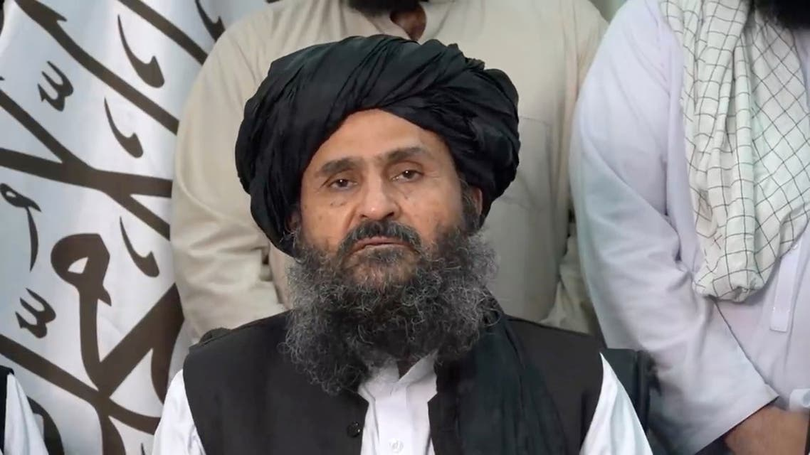 Mullah Baradar Akhund, a senior official of the Taliban, makes a video statement, in a still image taken from a video recorded in an unidentified location and released on August 16, 2021. (Reuters)