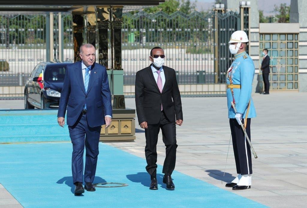 من استقبال رجب طيب أردوغان لأبي أحمد
