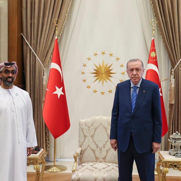 أردوغان يبحث مع وفد إماراتي العلاقات الثنائية وقضايا المنطقة