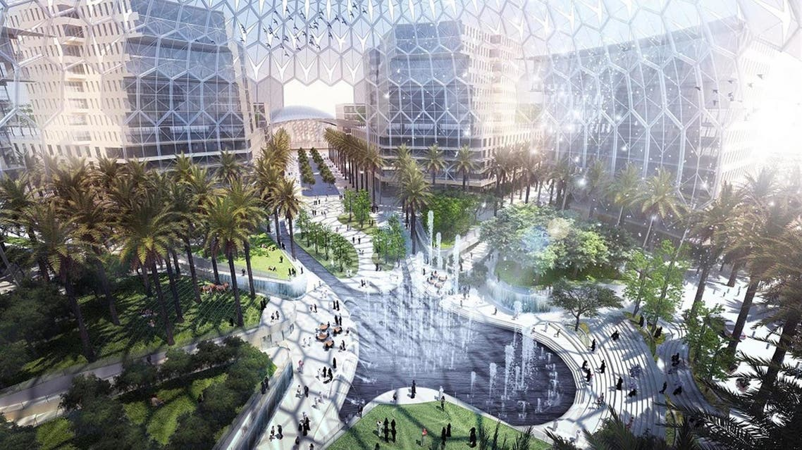 An illustration of Dubai's Expo 2020 site. (Supplied: Expo 2020)