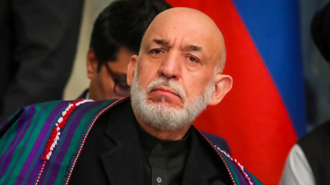 Afghan former President Hamid Karzai attends a conference arranged by the Afghan diaspora in Moscow, Russia February 5, 2019. REUTERS/Maxim Shemetov