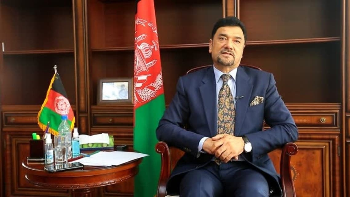 Afghan ambassador to Tajikistan lieutenant general Zahir Aghbar during an interview with Reuters at the Embassy of the Islamic Republic of Afghanistan in Dushanbe, Tajikistan. (Embassy of the Islamic Republic of Afghanistan in Tajikistan/ Reuters)