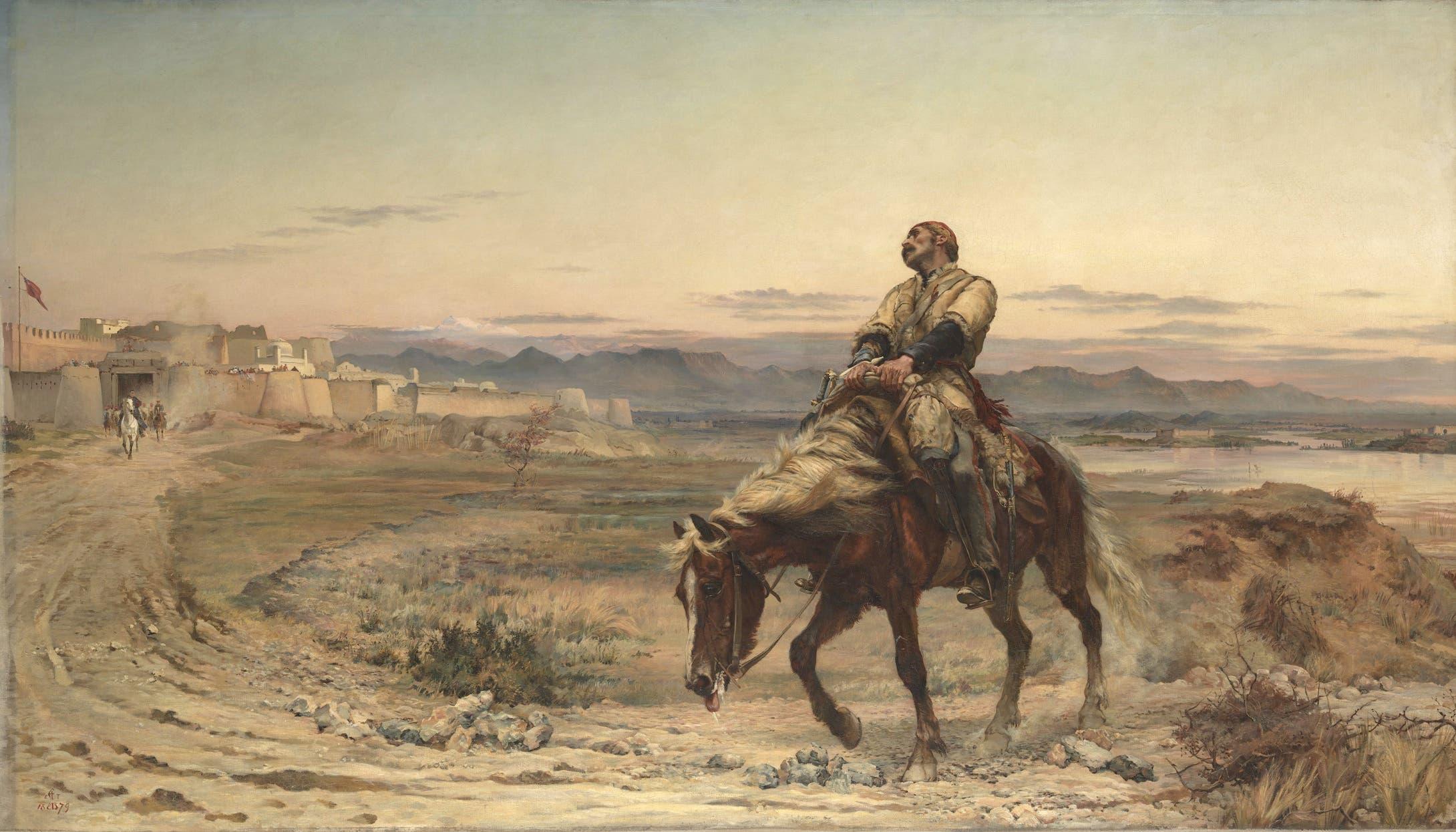 لوحة بقايا الجيش التي تجسد الناجي الوحيد