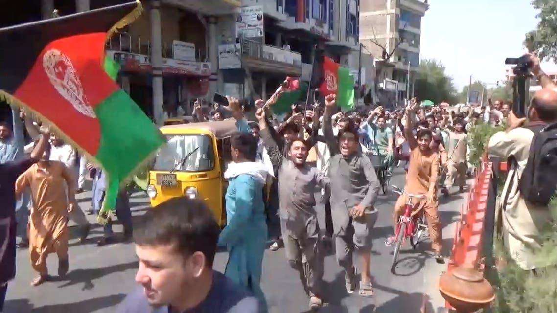 تظاهرات ضد طالبان في جلال أباد (رويترز)