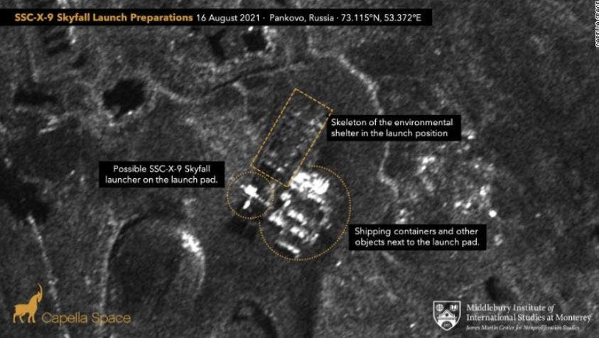 صورة للأقمار الصناعية من موقع Capella Space