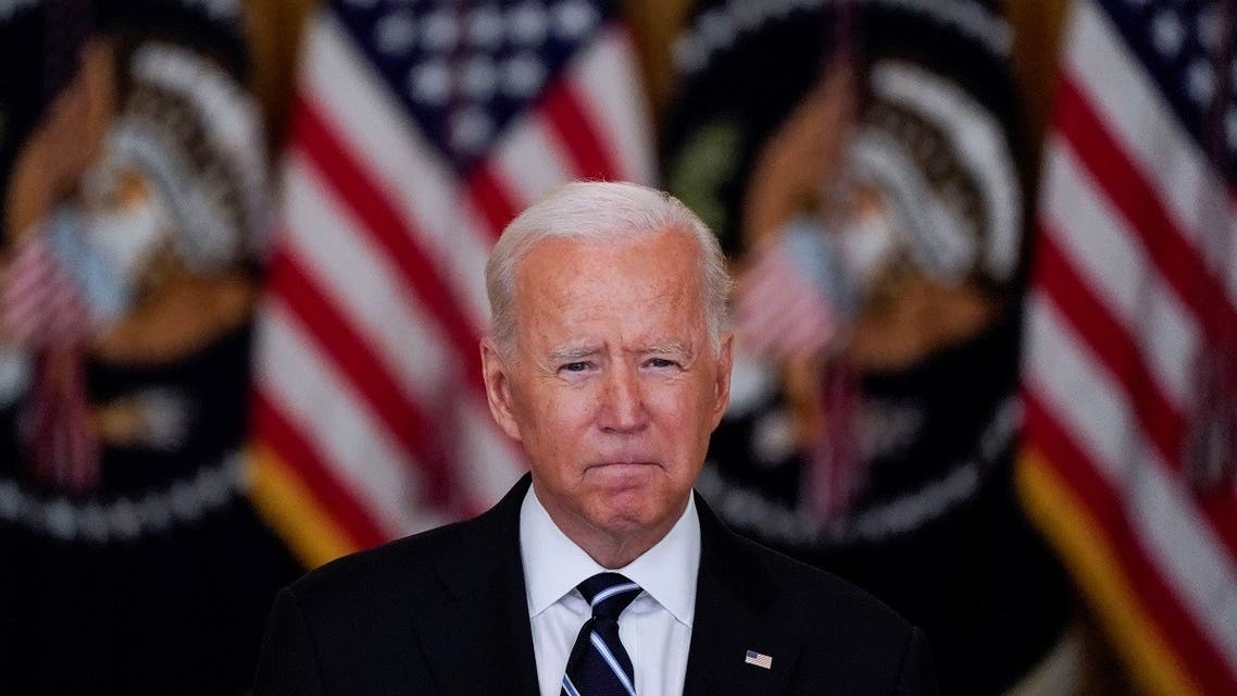 US President Joe Biden delivers remarks on the coronavirus disease (COVID-19) response and vaccination program during a speech in the East Room at the White House in Washington, US. (Reuters)
