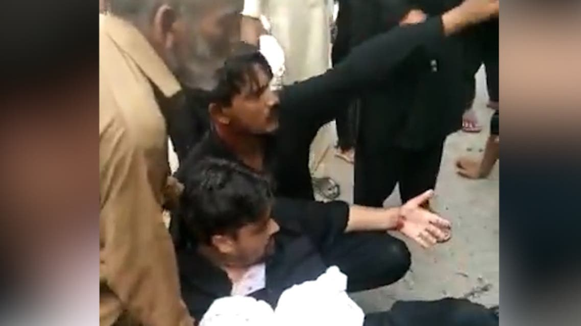 A powerful explosion hit a procession of Shia Muslims in central Pakistan on Thursday, wounding at least 30 people, witnesses and a Shia leader according to witnesses. (Screen grab)