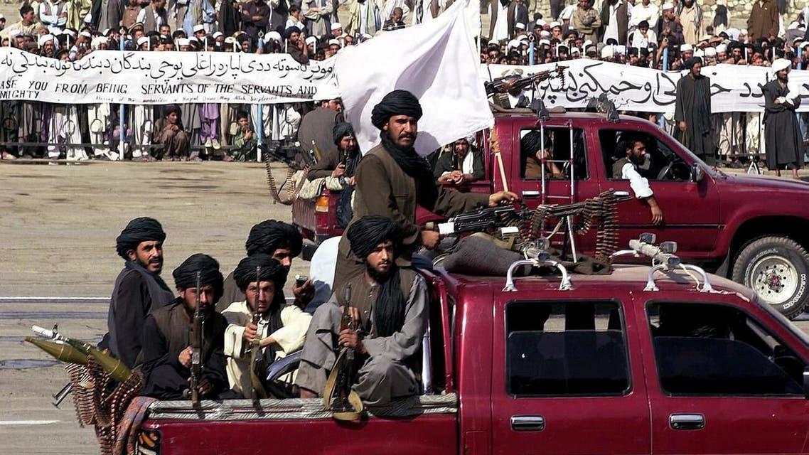 جانب من مقاتلي حركة طالبان عام 2001