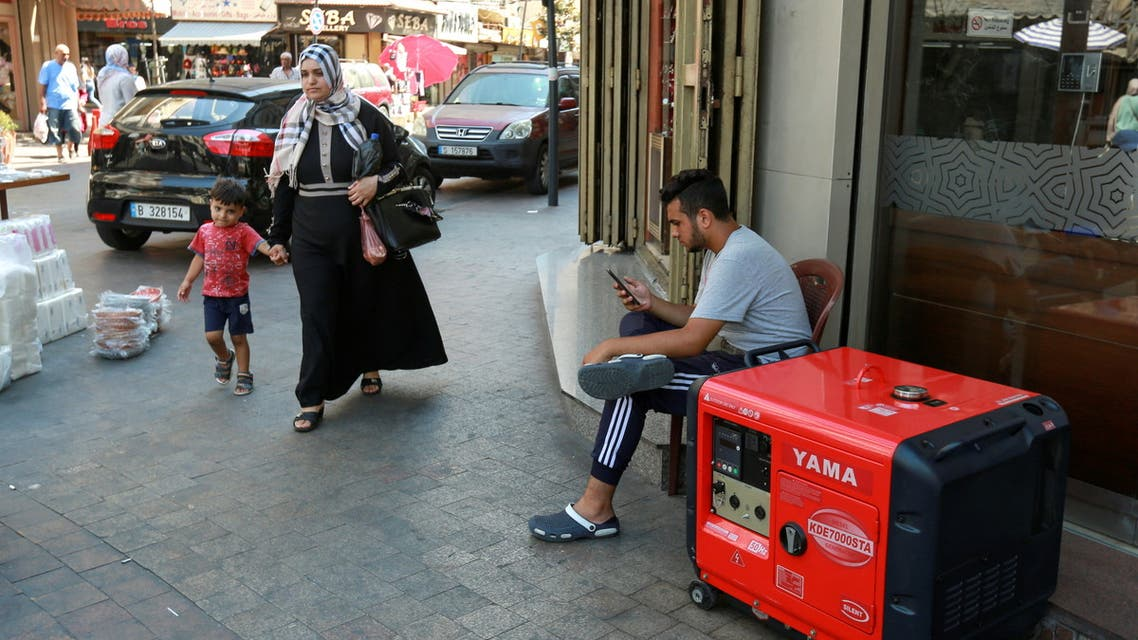 أزمة الكهرباء في لبنان (أرشيفية- رويترز)