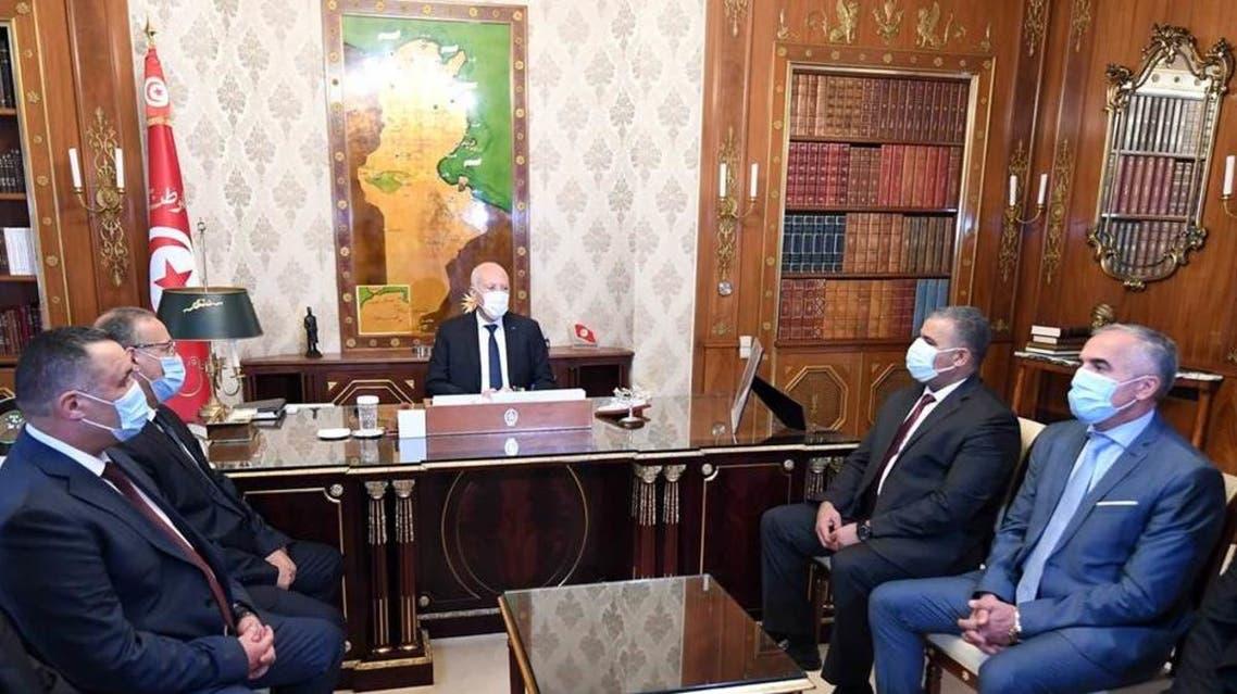 سعيد خلال لقائه بالقيادات الأمنية الجديدة و وزير الداخلية