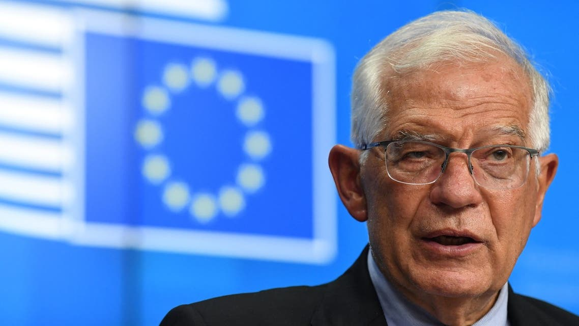 European High Representative of the Union for Foreign Affairs Josep Borrell addresses a joint press conference. (File photo: AFP)