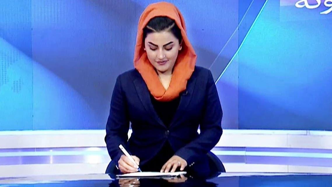 Afghan female TV presenter Shabnam Dawran. (Twitter/shabnamdawran)