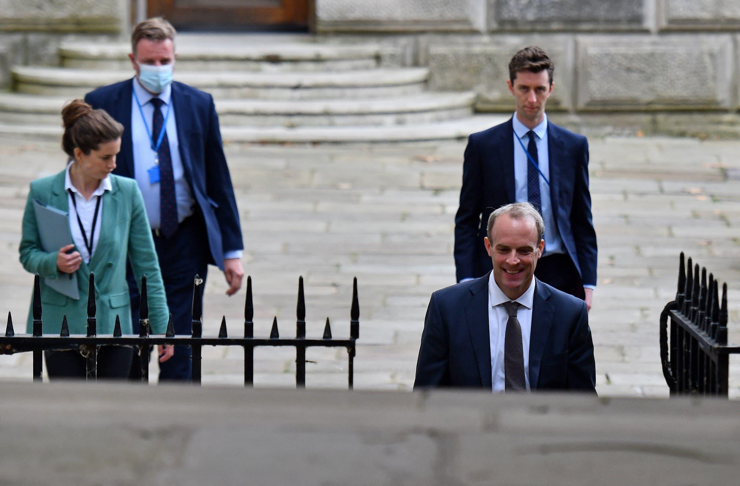 وزير الخارجية البريطاني دومينيك راب (أرشيفية- فرانس برس)