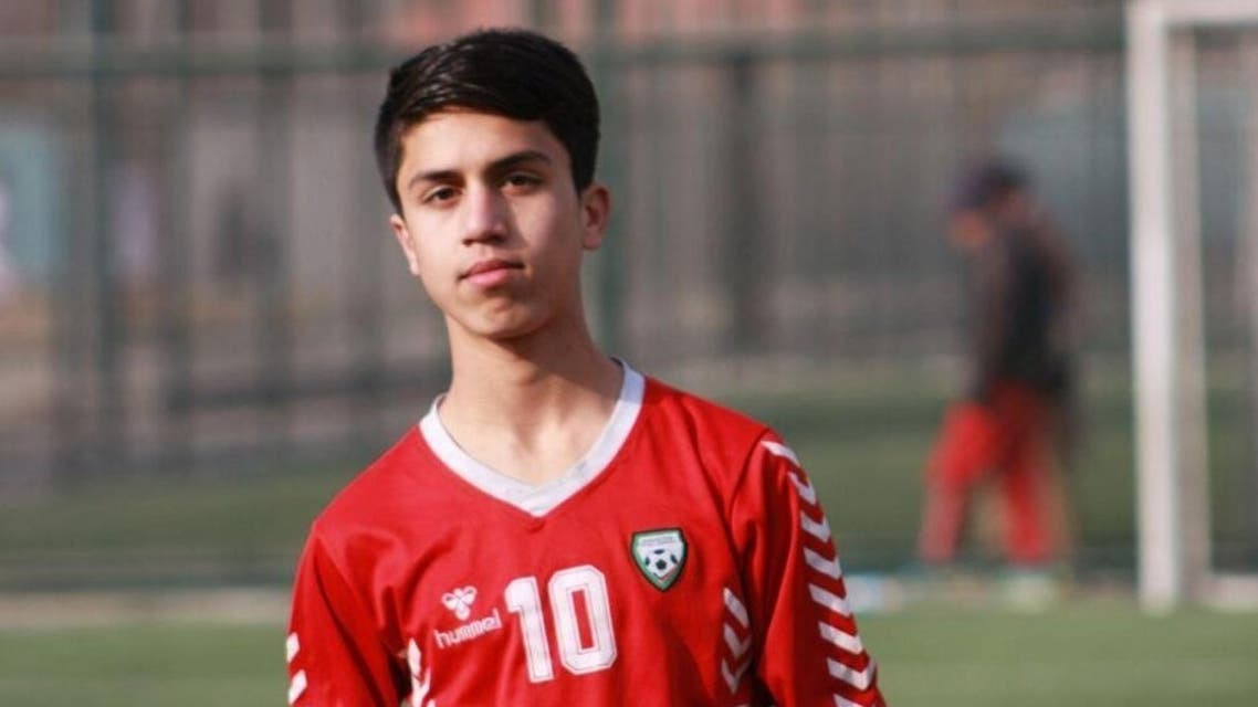 Zaki Anwari died at the Kabul airport while trying to flee Kabul, his soccer federation said. (Supplied: Afghan Soccer Federation)