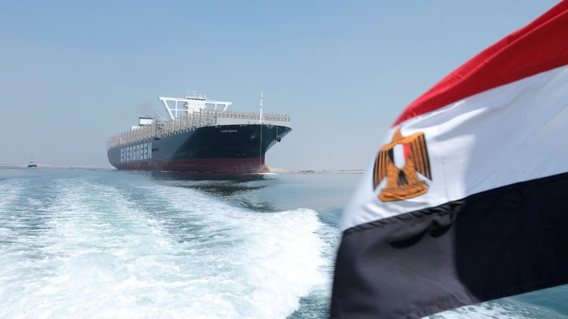 Ever Given, one of the world's largest container ships, is seen after sailing through Suez Canal in Ismailia, Egypt August 20, 2021. (Reuters)