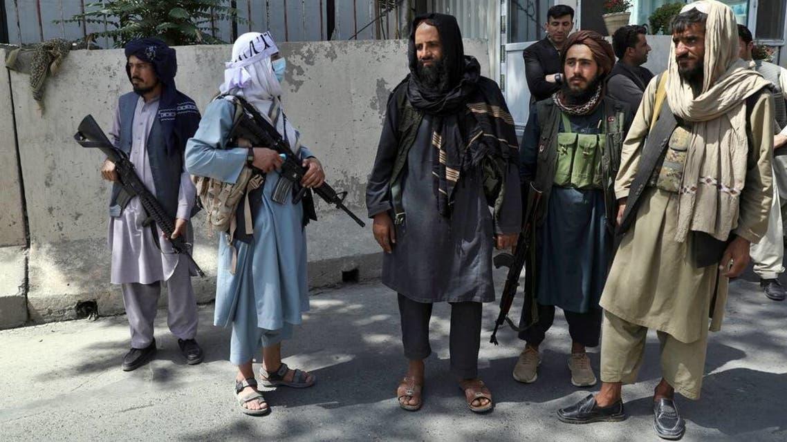 صورة لعدد من مقاتلي طالبان بكابول