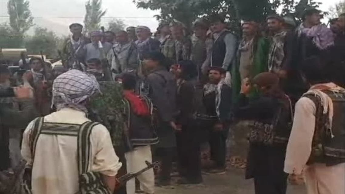 Eyewitness video shows anti-Taliban forces urging locals in Afghanistan's north to defend their homeland. (FACEBOOK/Baghlaneman via Reuters)