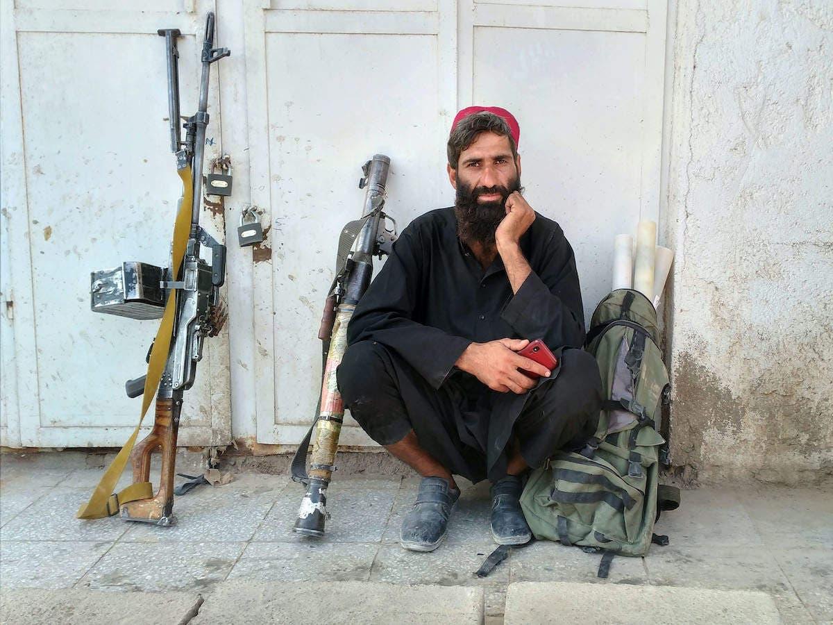 صورة لمقاتل من حركة طالبان