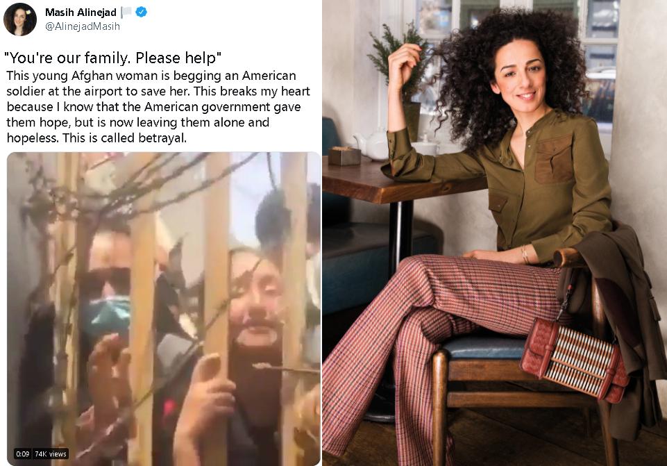 ناشرة الفيديو وتغريدتها، صحافية أميركية من أصل ايراني