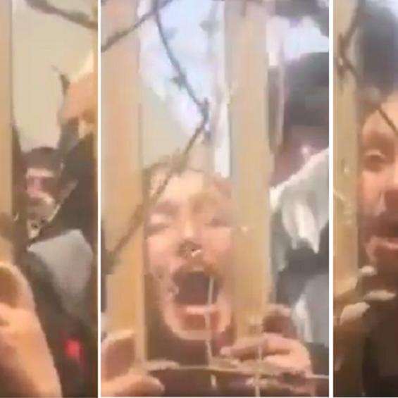 شاهد فتاة تصرخ وتتوسل ليخرجها جندي أميركي من أفغانستان