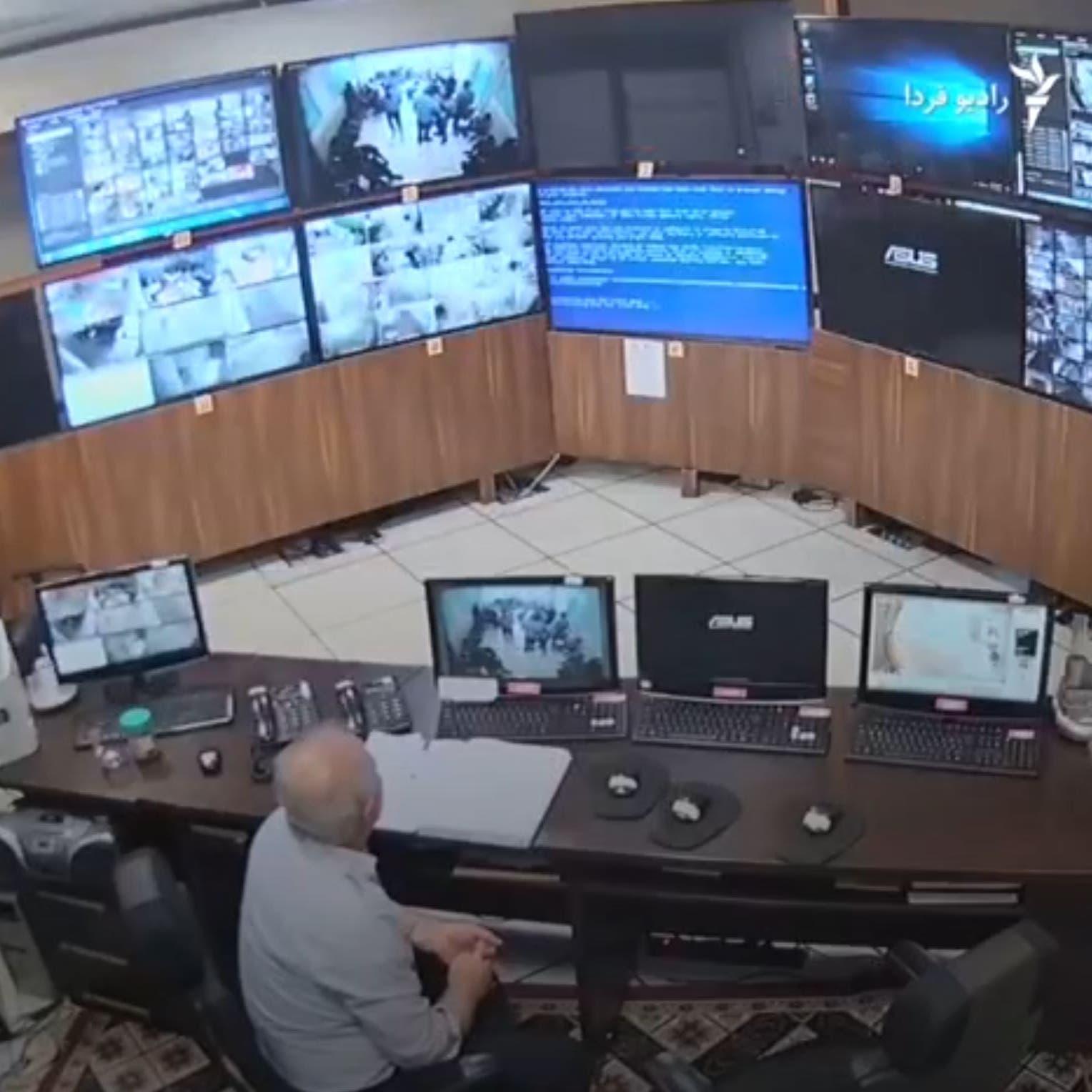 اختراق كاميرات المراقبة في سجن إيفين.. ورسالة إلى إبراهيم رئيسي