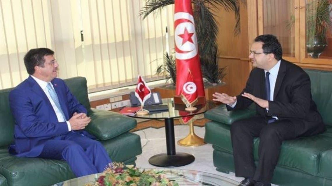 وزير التجارة التونسي في عهد الترويكا زياد العذاري و وزير الإقتصاد التركي