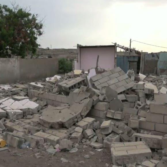 شاهد.. قصف حوثي بالحديدة يدمر منازل ويشرد أصحابها