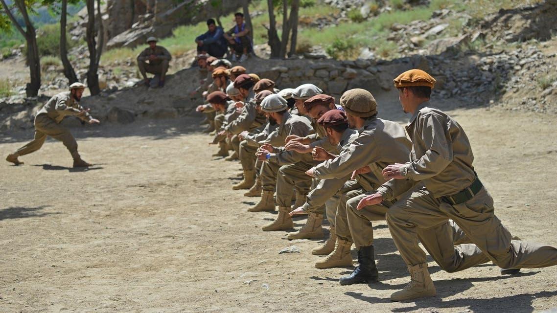 """تدريب عسكري لعناصر """"جبهة المقاومة الوطنية"""" في بنجشير"""