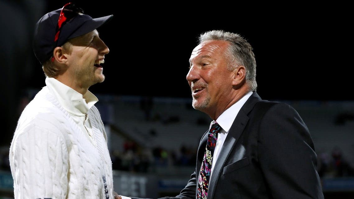 File photo of Ian Botham with England's Joe Root in Birmingham in the first Test against Birmingham. (Reuters)
