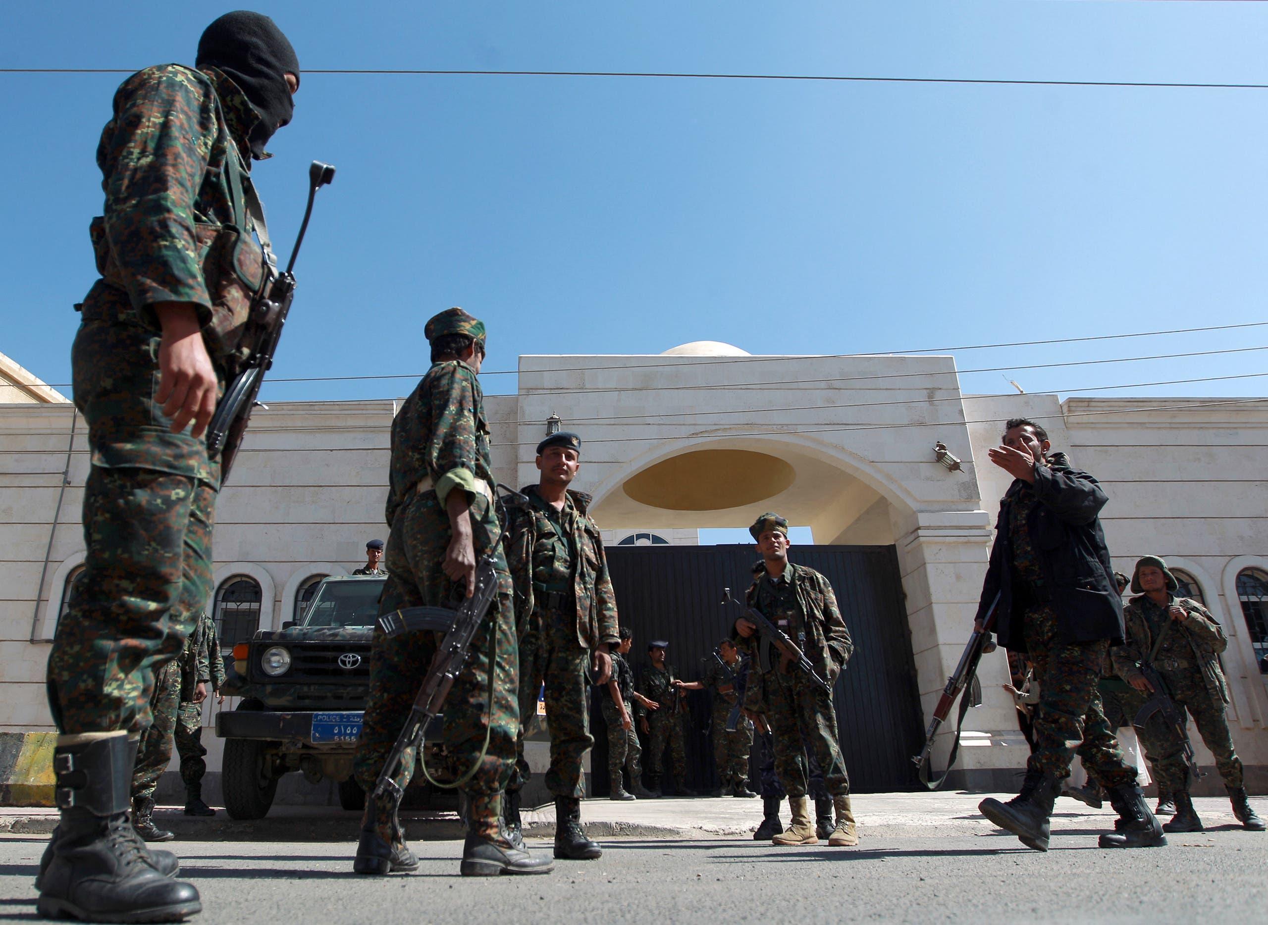 قوات أمن يمنية في صنعاء قبل الانقلاب في 2014 (أرشيفية)