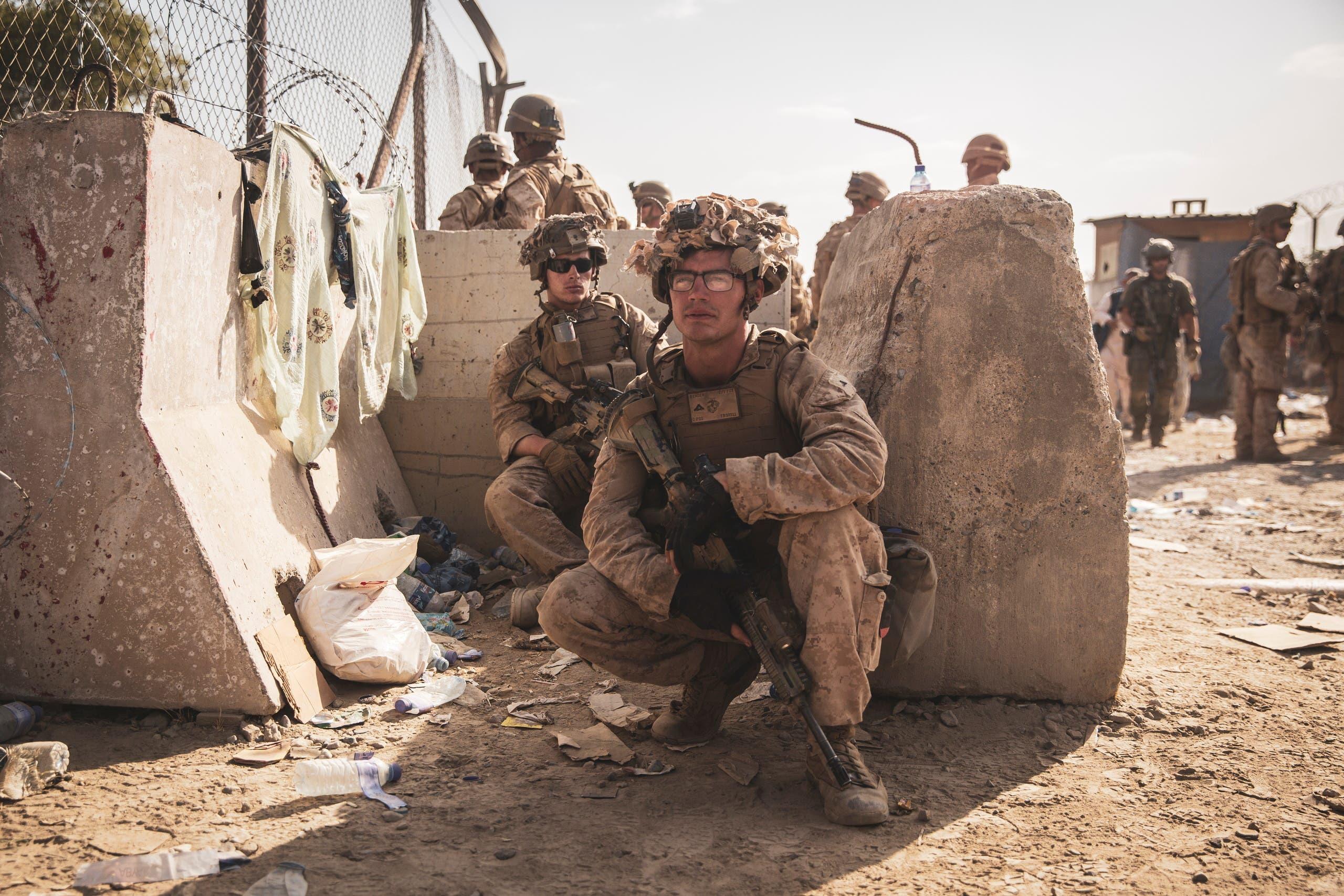 من القوات الأميركية في مطار كابل