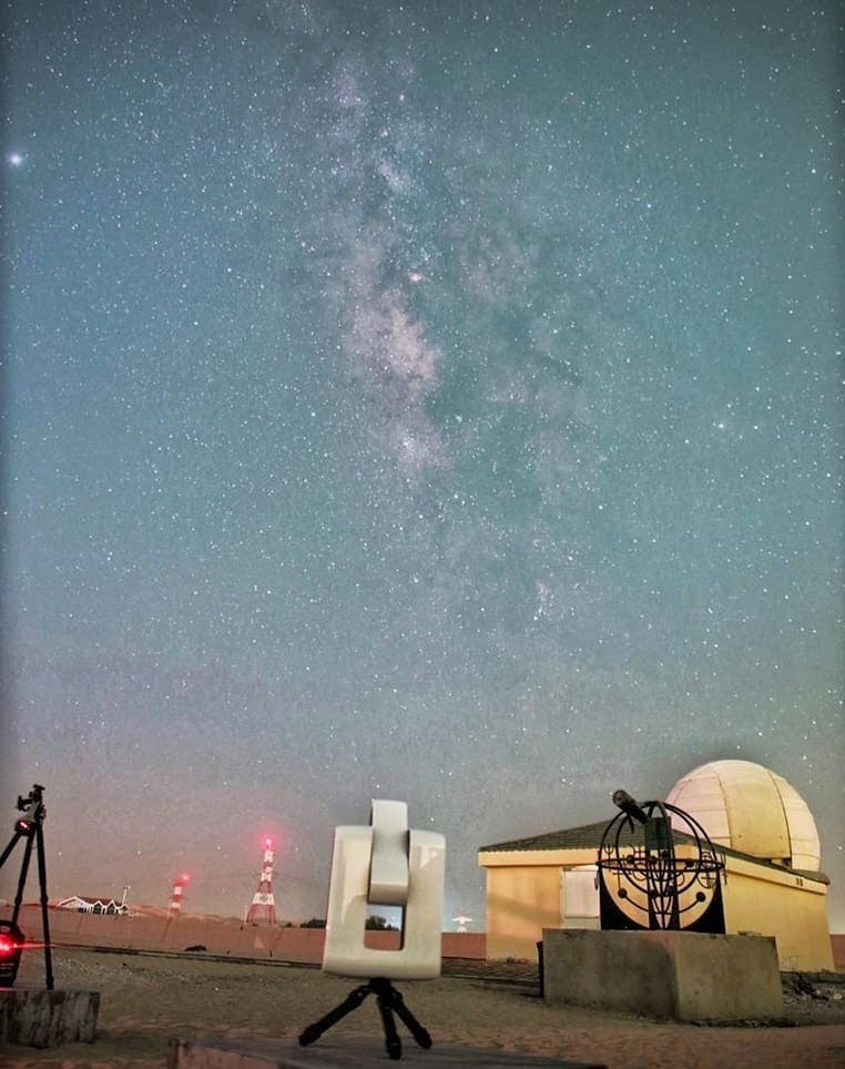 The al-Sadeem Observatory, which officially opened in June 2016, was born out of the vision of two space enthusiasts — Thabet Al Qaissieh, a successful Emirati businessman and astronomy enthusiast, who provided the funding for the observatory, and Alejandro Palado, a Filipino resident who originally founded the Abu Dhabi Astronomy Group. (Image: Al Saeem Observatory)