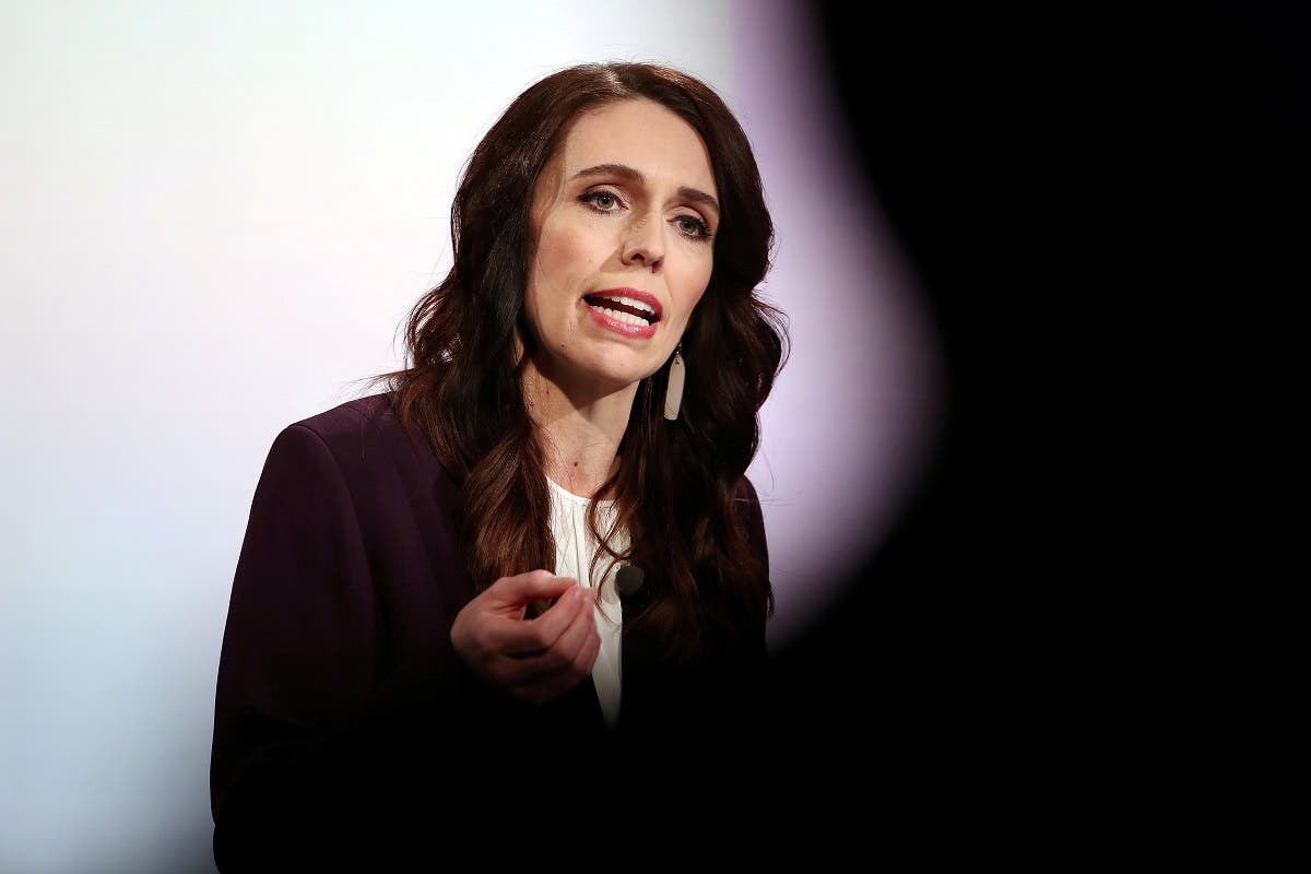 File photo of New Zealand Prime Minister Jacinda Ardern participates in a televised debate with National leader Judith Collins at TVNZ in Auckland, New Zealand. (Reuters)