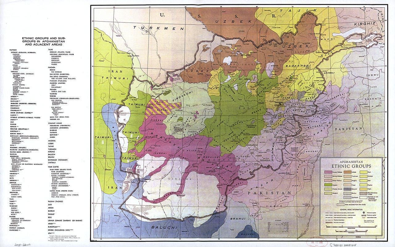 الخارطة الاثنية لافغانستان