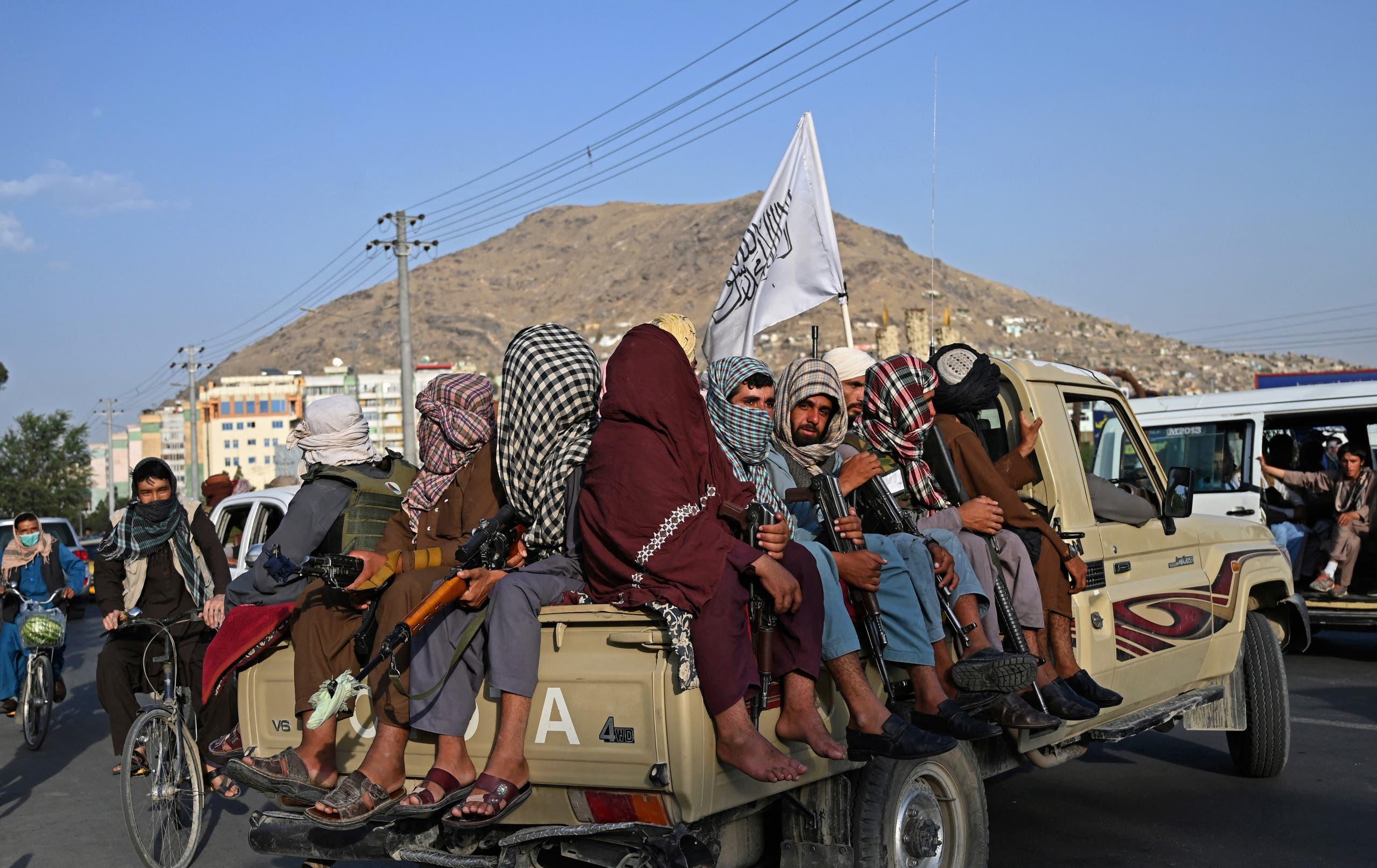 عناصر من طالبان في كابل