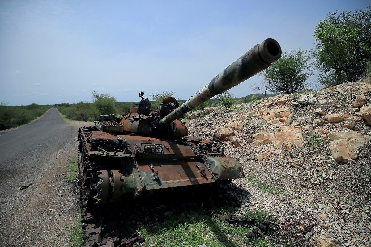 مدرعة متضررة من مخلفات القتال في تيغراي (أرشيفية)