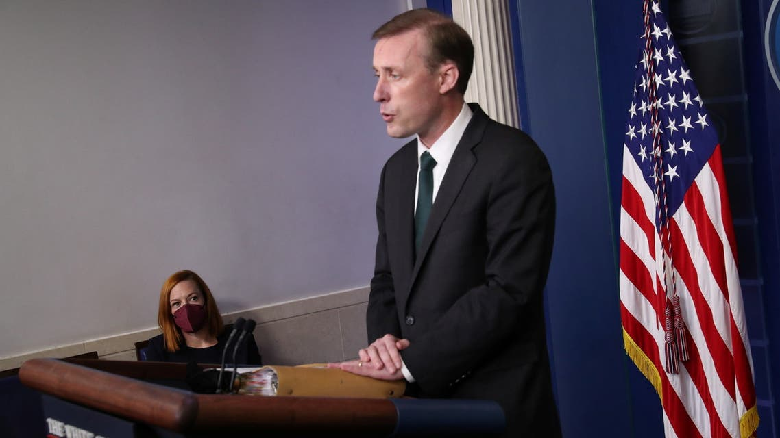 U.S. national security adviser Jake Sullivan takes part in a news briefing about the situation in Afghanistan at the White House in Washington, U.S., August 17, 2021. REUTERS/Leah Millis