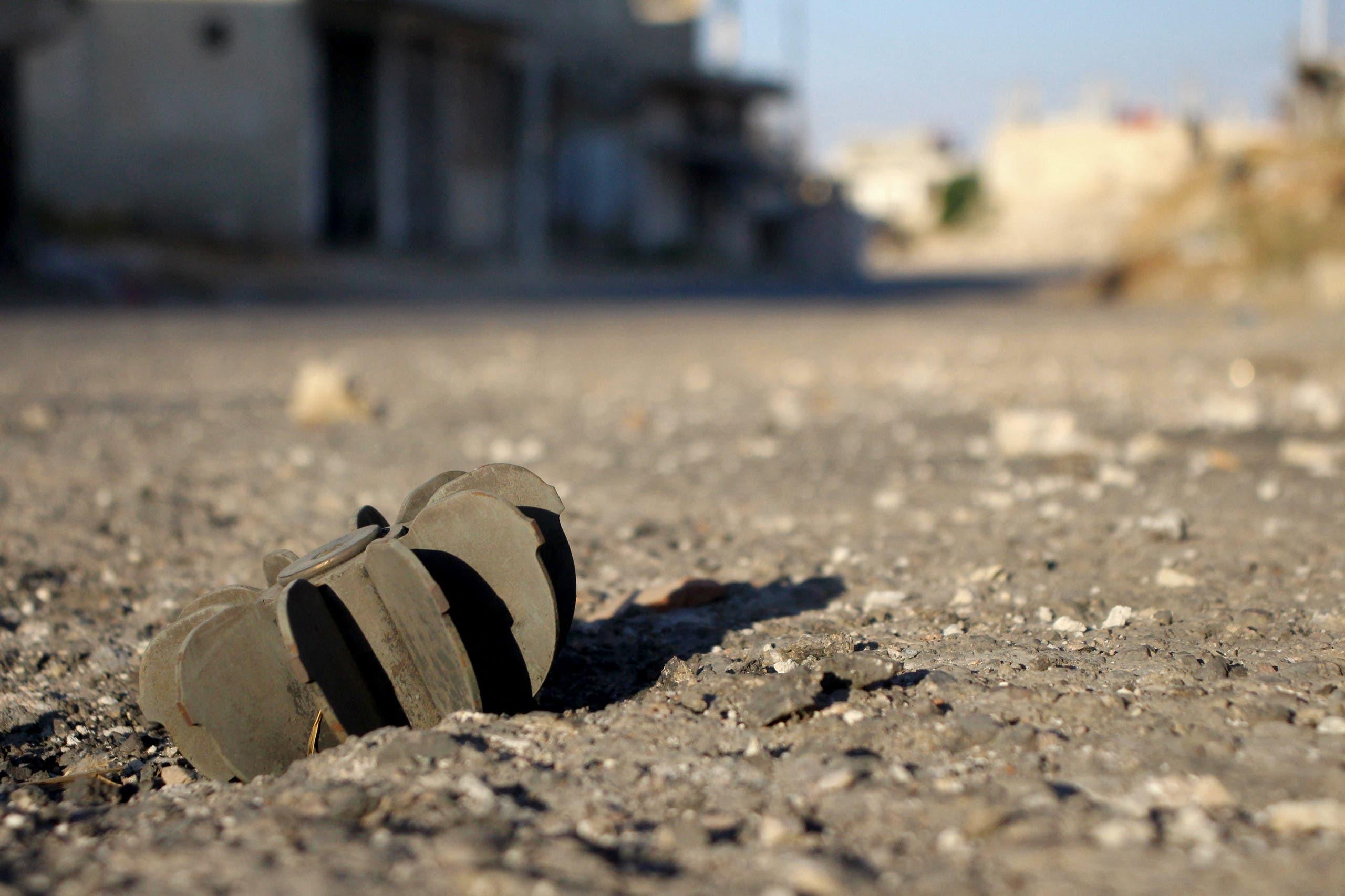 مخلفات المعارك في درعا البلد