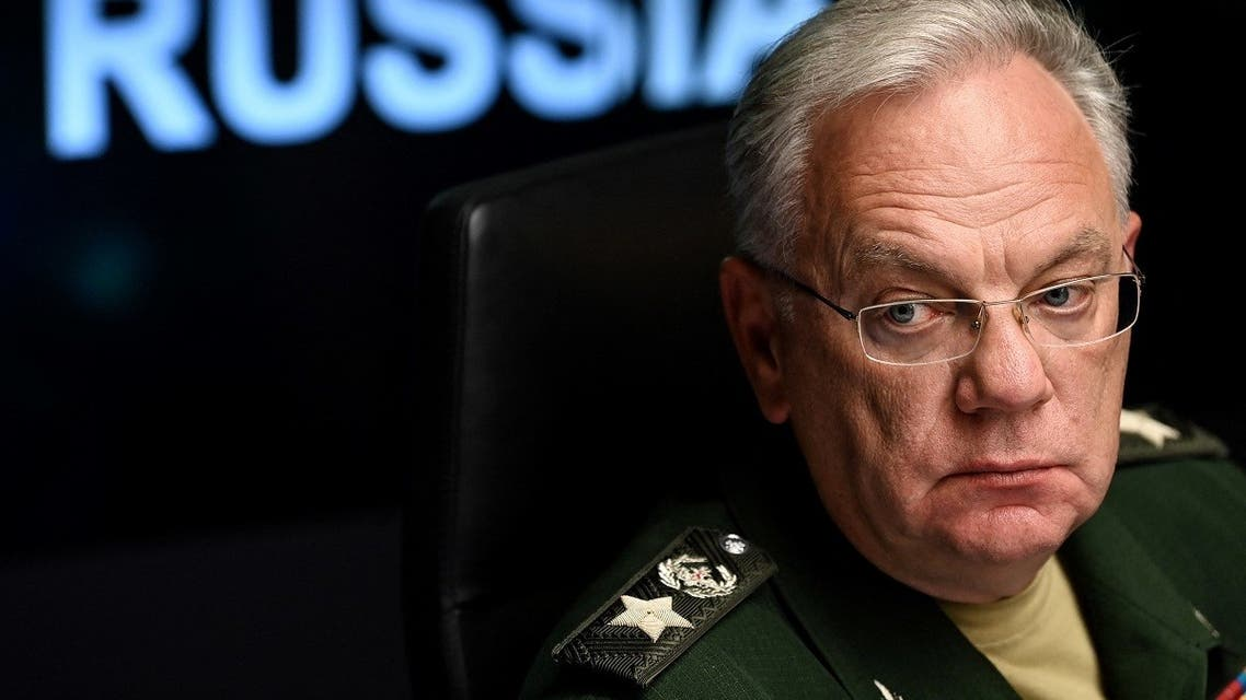 Director of the Russian Federal Service for Military-Technical Cooperation Dmitry Shugaev attends a press conference on the export of Russian weapons in Moscow on August 24, 2021. (Kirill Kudryavtsev/AFP)