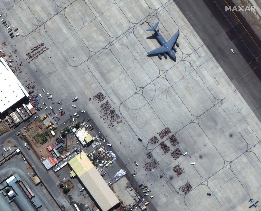 من محيط مطار كابل