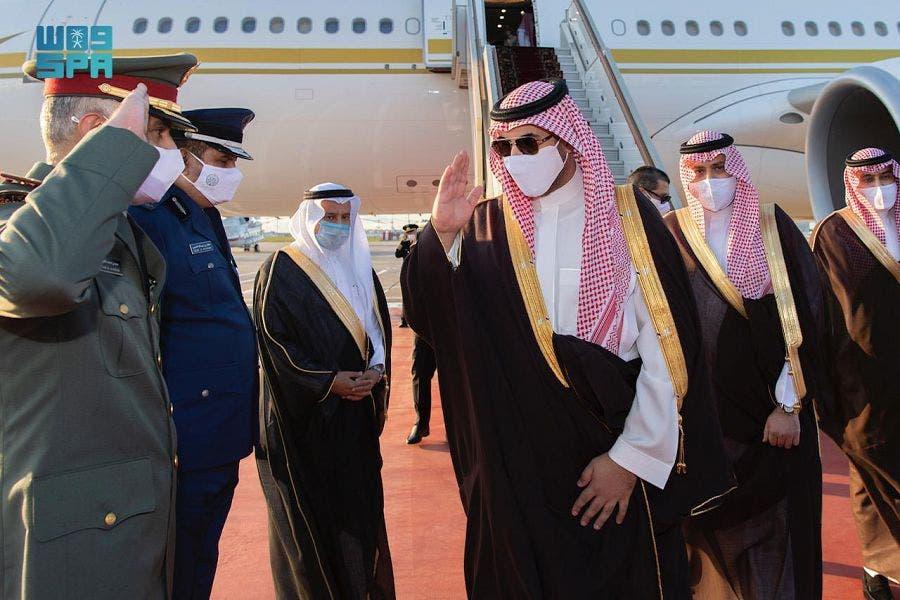 وصول الأمير خالد بن سلمان إلى روسيا