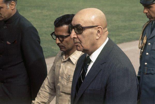 صورة للرئيس داود خان بنيودلهي عام 1975