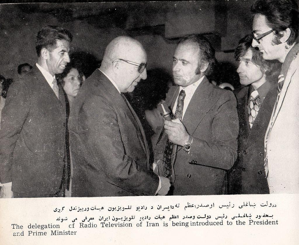 صورة للرئيس داود خان خلال زيارة قام بها لإيران