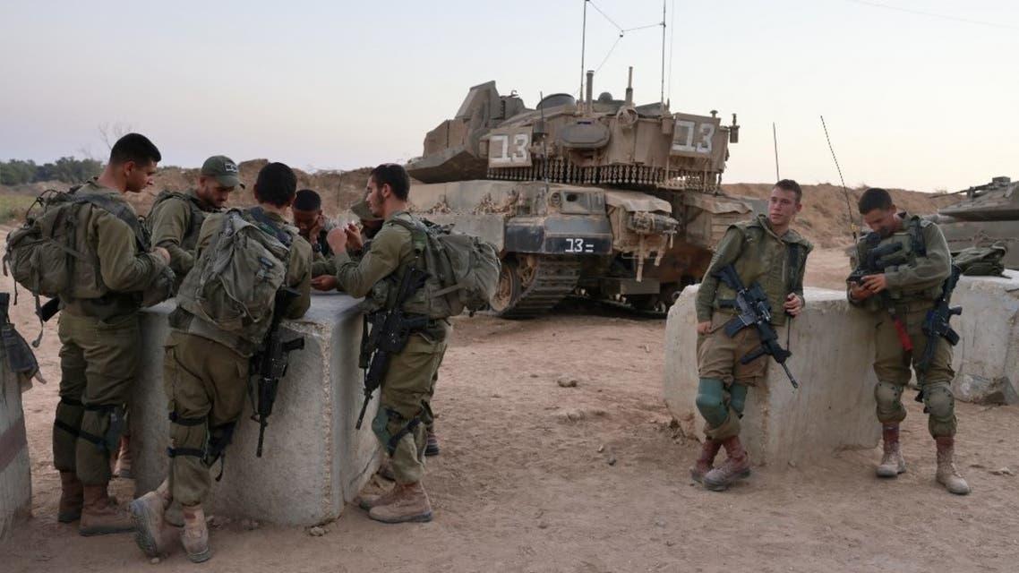 عناصر من الجيش الإسرائيلي على الحدود مع غزة - فرانس برس