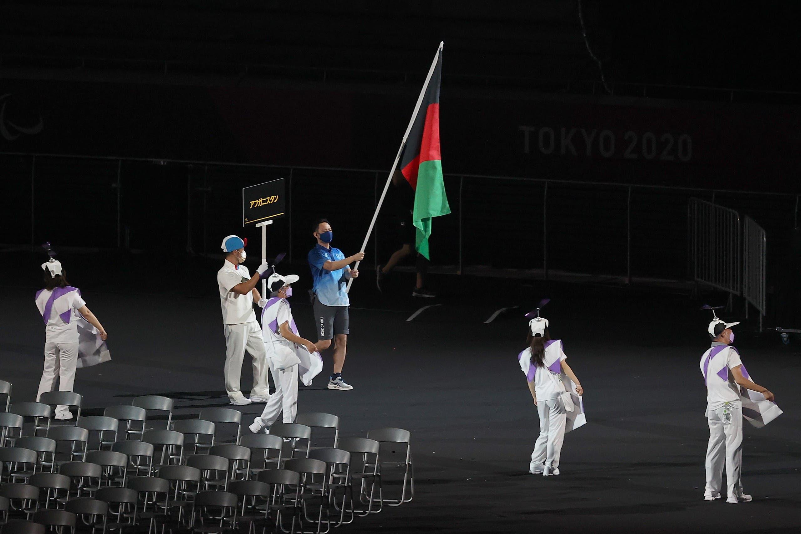 ٹوکیو پیرالمپکس کی افتتاحی تقریب میں افغانستان کا پرچم اعزازی طور پر لہرا گیا۔